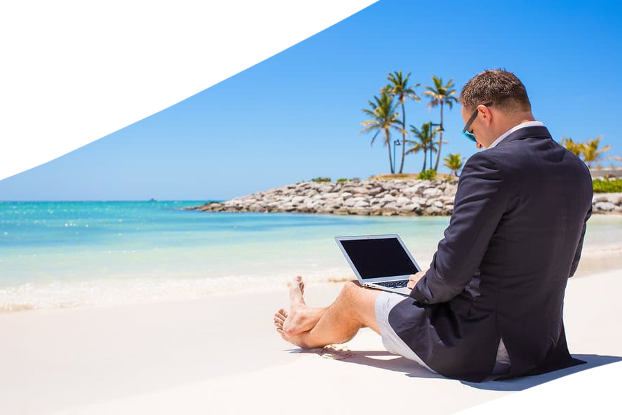 Work anywhere in the world from your laptop